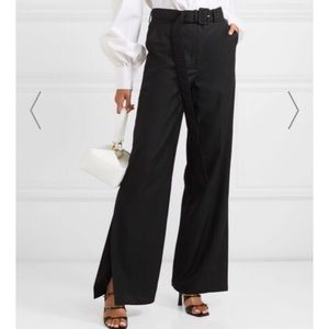 Anna Quran Tammy Wool Wide-Leg Pants